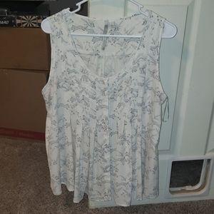 Lauren conrad LC pleated fox tank blouse
